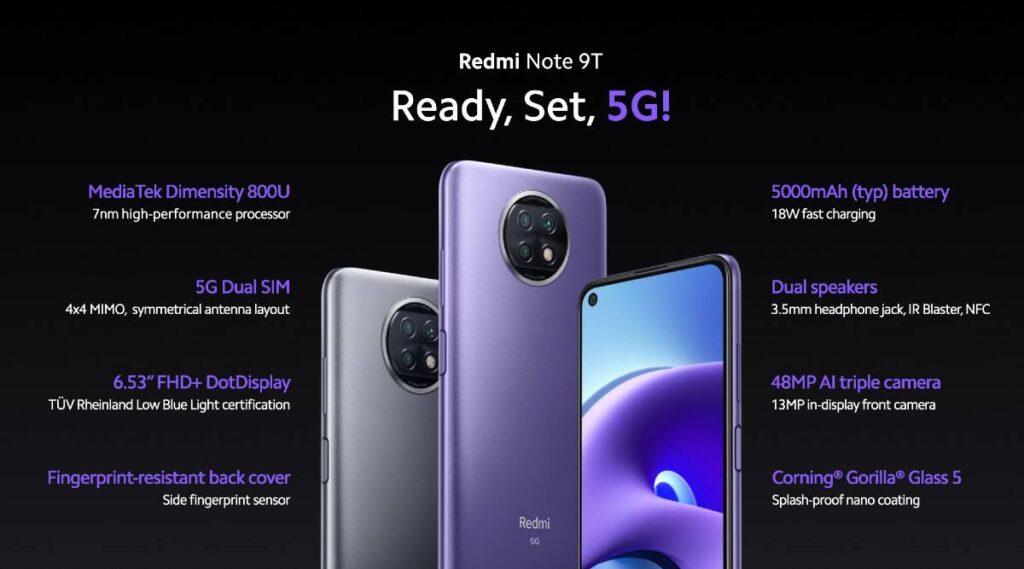 Αυτό Είναι το Νέο Xiaomi Redmi Note 9T 5G